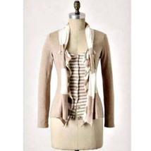 NEW! Anthropologie Moth Yemaya Beige Cardigan Sweater Size S - $39.55