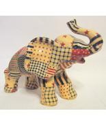 Patriotic Ceramic Elephant Figurine With Trunk Up - $40.09