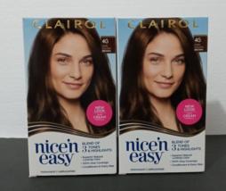 2 Packs WOMAN'S CLAIROL nice'n easy Permanent Hair Dye,  COLOR ##4G DARK... - $20.00