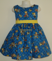 NEW Handmade Licensed Bob The Builder Blue Dress Custom Sz 12M-14Yrs - $59.98
