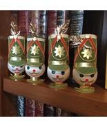 Vtg Toy Soldier Head Placecard Holder CHRISTMAS Ornament Green Felt Gold... - $19.31