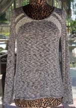 New Long Sleeve Macrame Trim Gather Longer Back Shirt Sz. L - $24.74