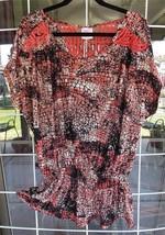 New Plus Size Snakeskin Print Macrame Back Shirt Sz. 3X - $12.86