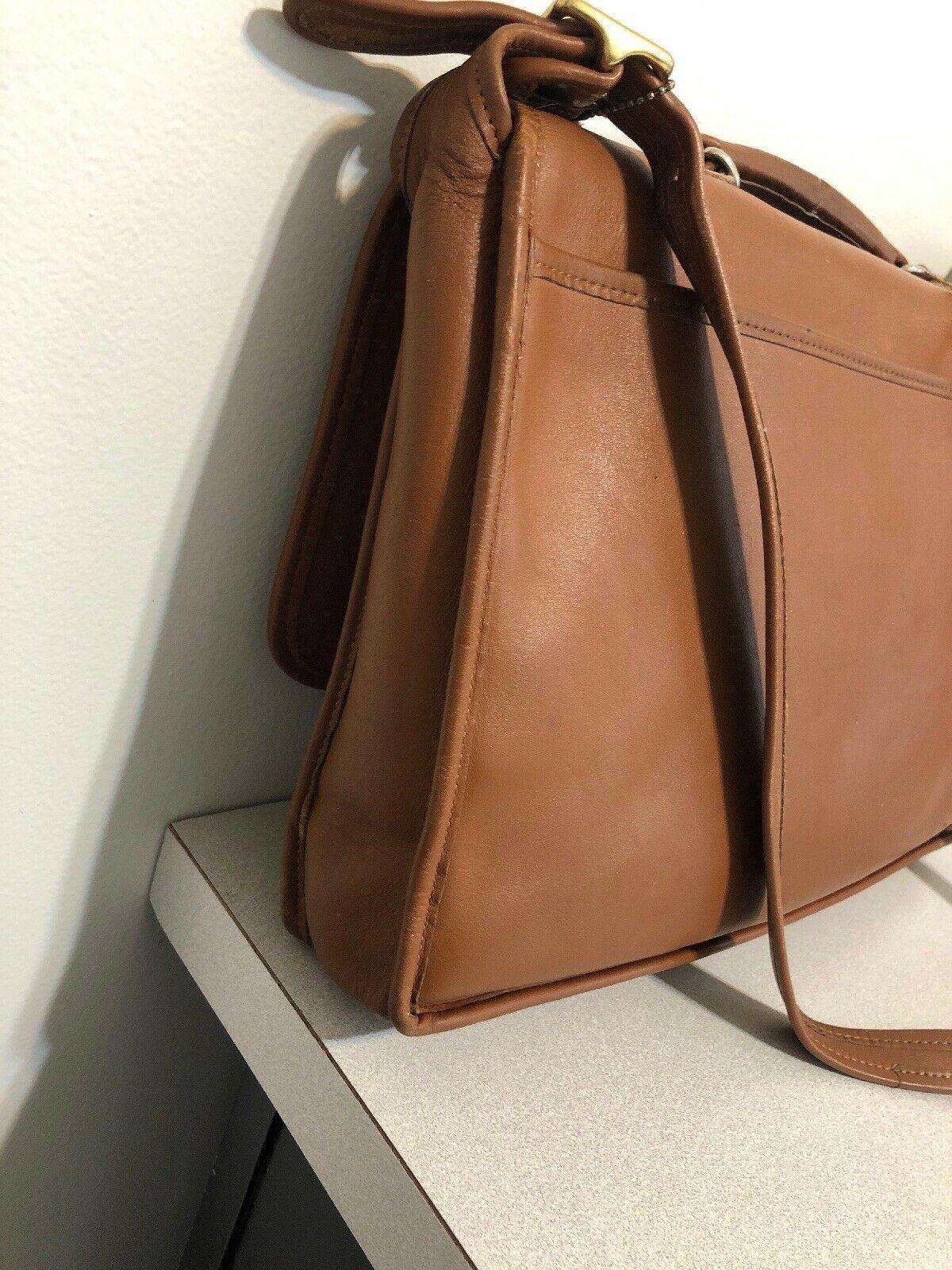 Vintage COACH L6C- 5180 Metropolitan Leather Messenger Attache Tan image 6