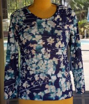 Simply Vera Wang Winter Lights Long Sleeve Shirt Sz. L Petite - $24.74