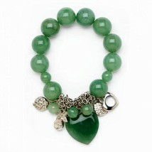 10017629 Jade Heart Stretch Bracelet - $13.38
