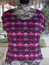 "New Short Sleeve Longer Sheer Back Shirt Sz. L  46""  Bust - $8.90"