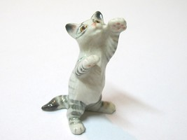 Hand Painted Miniature Collectible Ceramic Porcelain Tiger Cat FIGURINE ... - $3.47