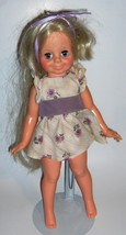 Purple & White Blonde Hair  Ideal Toy Corp.  vintage doll  hair grows   ... - $12.86