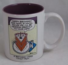 "Happy Birthday COFFEE MUG ""If Birthday Cakes Could Talk..."" Hallmark Purple EUC - $16.98"