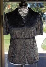 """Satiny Empire Waist Short Sleeve Front Button Apt 9 Shirt Sz. 1X  50"""" Bust - $10.88"""