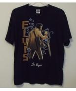Mens Elvis Presley Black Short Sleeve T Shirt Size Large - $15.95
