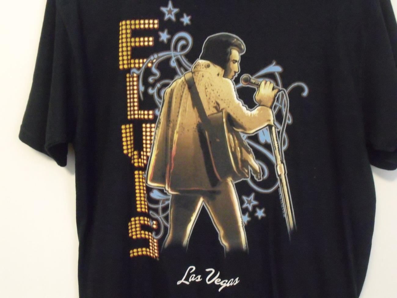 Mens Elvis Presley Black Short Sleeve T Shirt Size Large