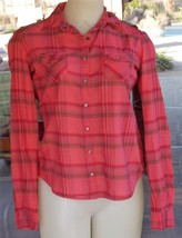 Western Style Pearl Snap Roll Up Sleeves Mossimo Shirt Sz. XS - $8.90