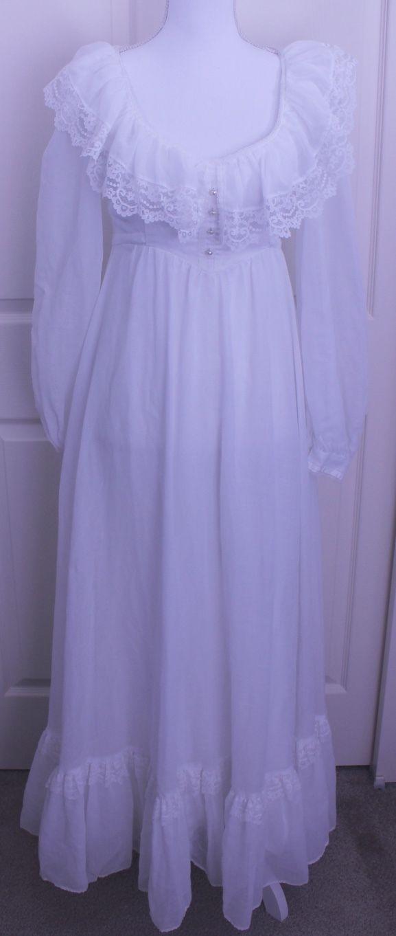 fa385fa190b S l1600. S l1600. Previous. Vintage Jessica McClintock Gunne Sax Lace Boho  Wedding Prairie Maxi Dress Sz XS