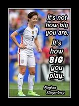 Meghan Klingenberg Soccer Daughter Inspiration Poster, It's How Big You ... - $17.99+