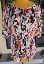 Short Sleeve Front Gather Fred David Plus Size Blouse Sz. 22/24 - $18.80