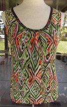 Embellished Neckline Lined Sleeveless Tribel Shirt Sz. M - $4.94