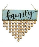 rosenice Family Birthday Reminder Hanging DIY Wooden Calendar Plaque Hom... - $11.55