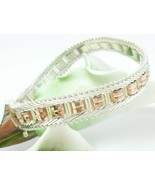 "Sterling Silver Two-Tone Mosaic Riccio Bracelet 6.75"" Small Wrist - $54.00"