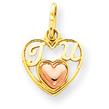 "Two Tone""I Heart U"" in Heart Charm - $19.95+"