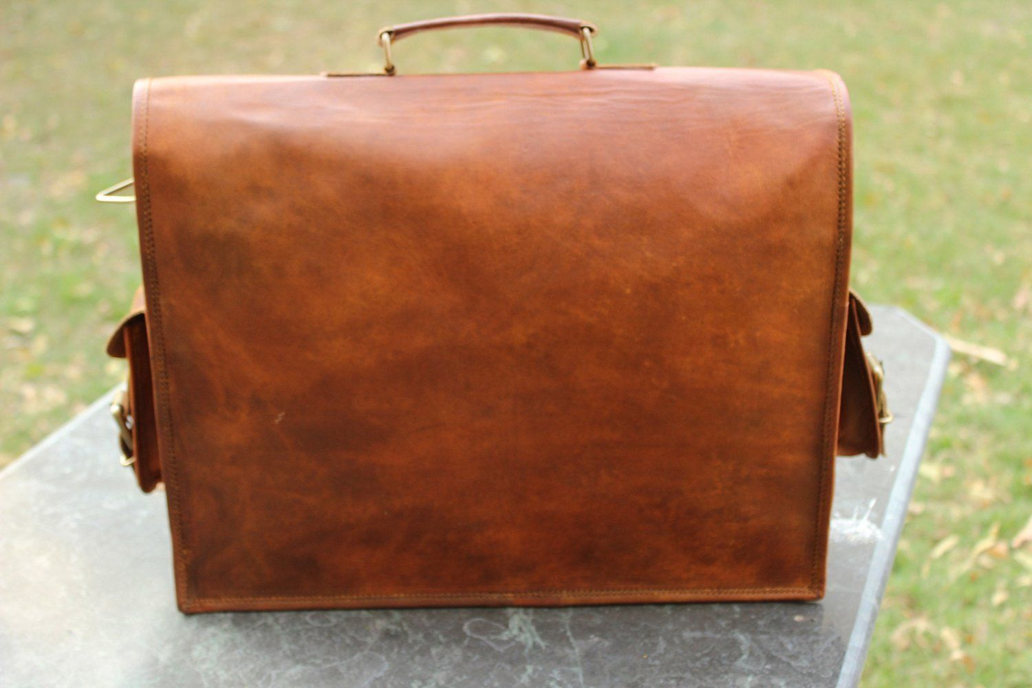 Mens's Passion Leather 15 Inch Messenger Laptop Shoulder Briefcase Office Bag