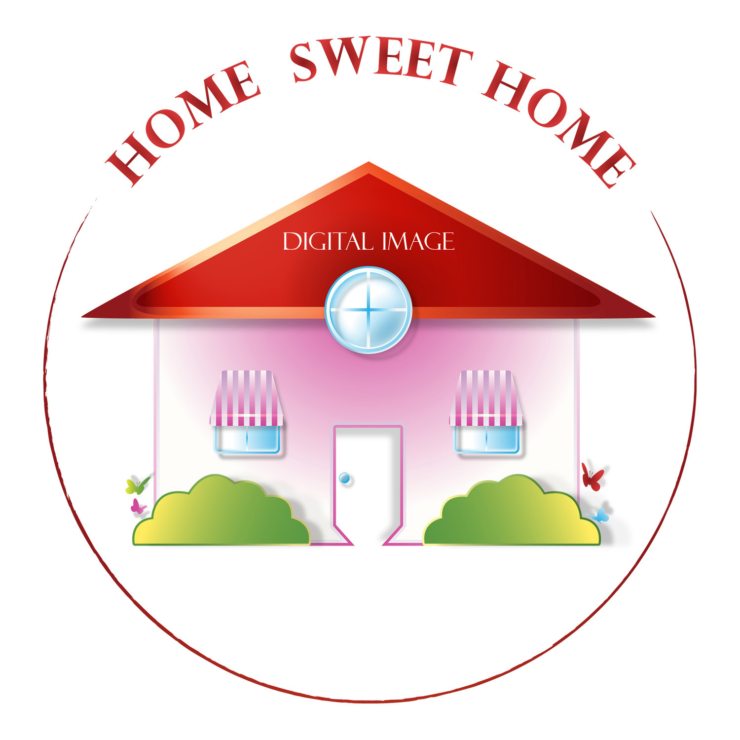 *HOME SWEET HOME* Digital Art JPEG Image Instant Download