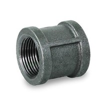 """BMCPL018 1/8"""" STRAIGHT MALLEABLE IRON COUPLING W/BLACK COATING AND W/BAN... - $4.38"""