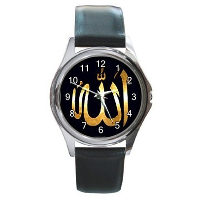 Allah Golden Unisex Round Metal Watch Gift model 26406548
