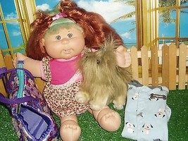 """CABBAGE PATCH DOLL (17"""")  - WITH ORIGINAL DRESS & PUCCI PUP (8"""") - $14.99"""