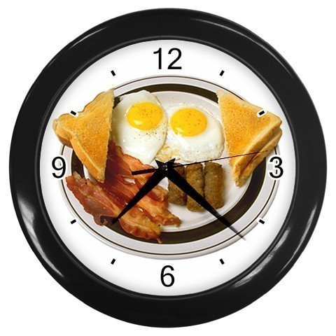 Bacon and Eggs Fresh Breakfast Decorative Wall Clock (Black) Gift modei 26376618
