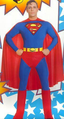 SUPERMAN COSTUME ADULT EXTRA LARGE