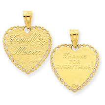 "Reversible ""For My Mom"" Heart Charm - $19.95+"