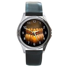 Bowling Sports Unisex Round Metal Watch Gift mo... - $13.99