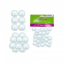 50 Count Small Foam Craft Balls 30 pack 34 12 1... - $17.02