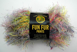Lion Brand Yarn Fun Fur Prints Polyester Eyelash Yarn - 1 Skein - Confet... - $4.70 CAD