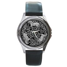 Celtic Knot Horses Unisex Round Metal Watch Gif... - $13.99