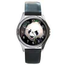 Cute Panda Wildlife Animal Unisex Round Metal Watch Gift model 26568469 - $13.99