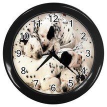 Dolmation Puppies Decorative Wall Clock (Black) Gift model 14515869 - $18.99