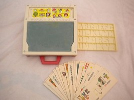 Fisher Price Toys School Days Chalk Desk #176 Vintage 1972 Tray Cards St... - $19.38