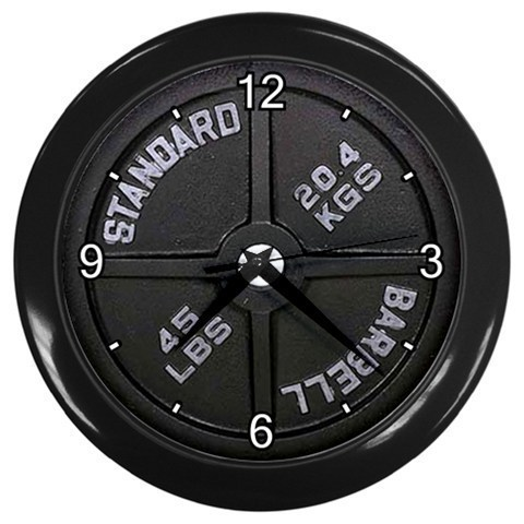 Dumbbell Barbell Wall Clock  Decorative Wall Clock (Black) Gift 15137019