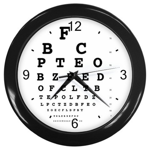 Primary image for Eye Vision Chart Check Ophthalmology Decorative Wall Clock (Black) Gift 32046798