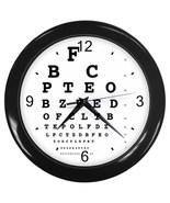 Eye Vision Chart Check Ophthalmology Decorative Wall Clock (Black) Gift ... - $18.99