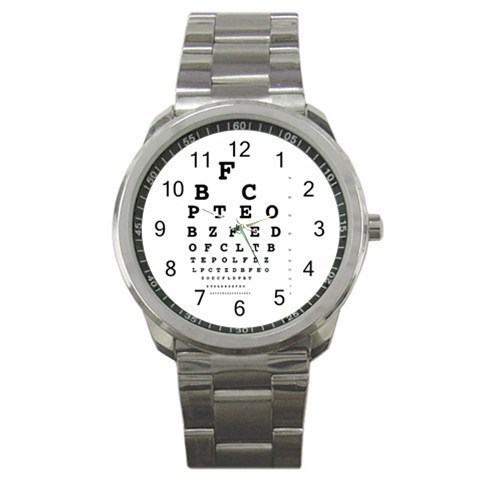 Eye Vision Chart Check Ophthalmology Sport Metal Watch Gift model 32049405