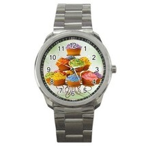 Food Dessert Cupcakes Sport Metal Watch Gift model 32049396 - $15.99