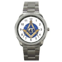 Freemason Mason Masonic Sport Metal Watch Gift model 32049388 - $15.99