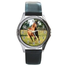 Horse Unisex Round Metal Watch Gift model 34851672 - $13.99