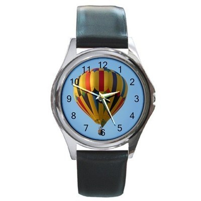Hot Air Balloon Unisex Round Metal Watch Gift model 34851673