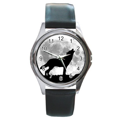 Howling Wolf Unisex Round Metal Watch Gift model 17725123