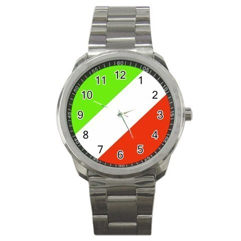 Italy Flag Patriotic Sport Metal Watch model 15079426